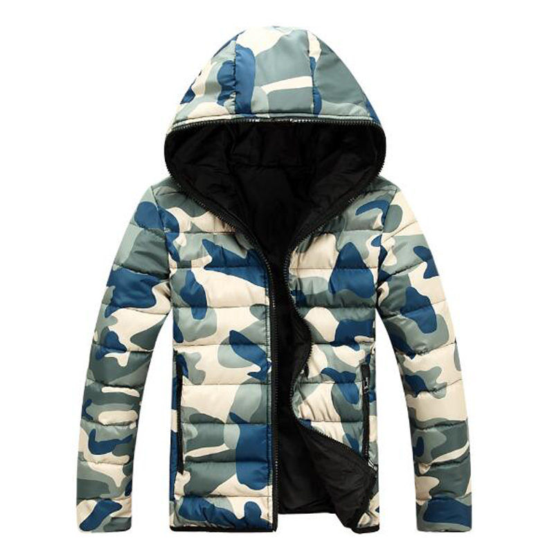 New Style Men And Women's Winter hooded Jacket Military Camouflage Men's Jackets Parks Sided Wear Casaco Size M-3XL
