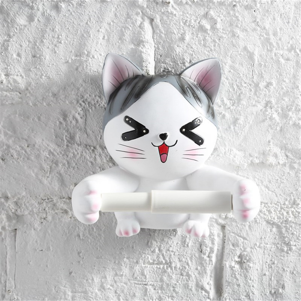 Resin wall mounted tissue holder toilet kitchen bathroom roll paper holder 3d animal toilet tissue rack creative hanging type in tissue boxes from home