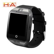 Q18 Reloj inteligente Reloj Bluetooth Con Cámara Facebookes Twitter Smartwatch Apoyo TF Tarjeta Sim Para Apple ios Android Teléfono