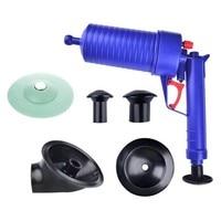 High Pressure Air Drainage Pipe Dredging Blaster Plunger Bathroom Sink Drain Clog Brush Bathroom Cleaner