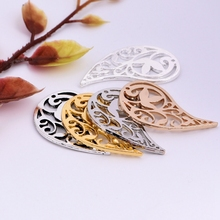 1pc 36mm water hole hollow double hanging earrings accessories jewelry double hanging pendant diy charm pendant necklace making
