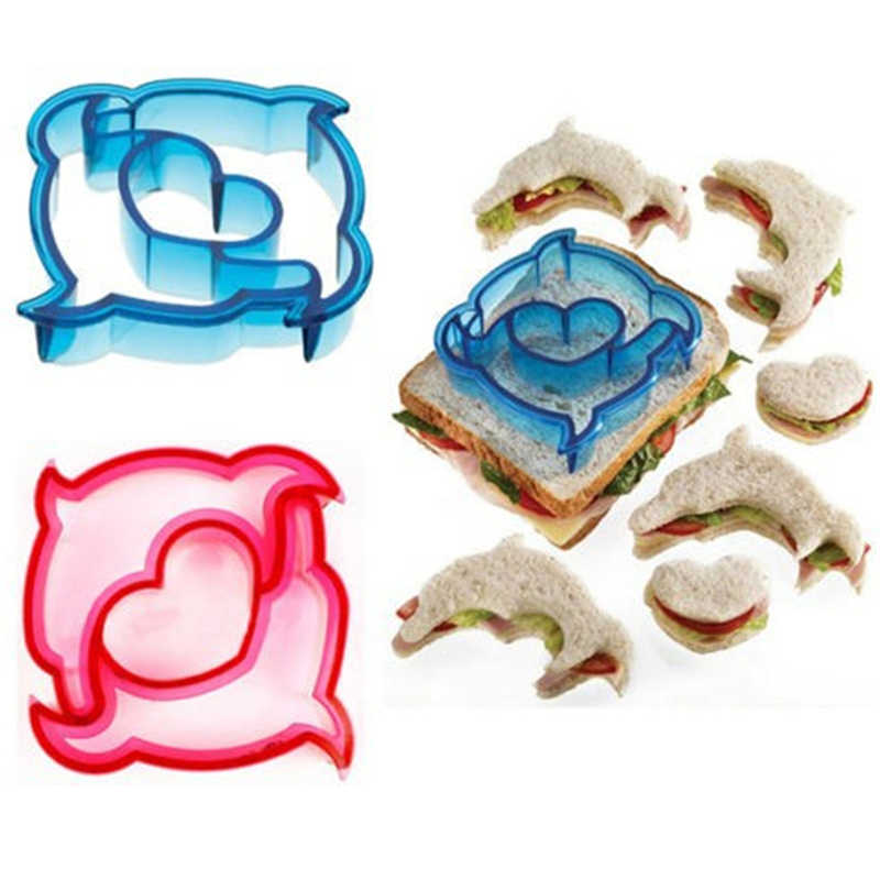 9 Shaps Sandwich Cutter Cake Toast Mold Dinosaur Dog Butterfly Shape Animal Shapes for Kids Bento Lunch Cookie Bread Presses Set
