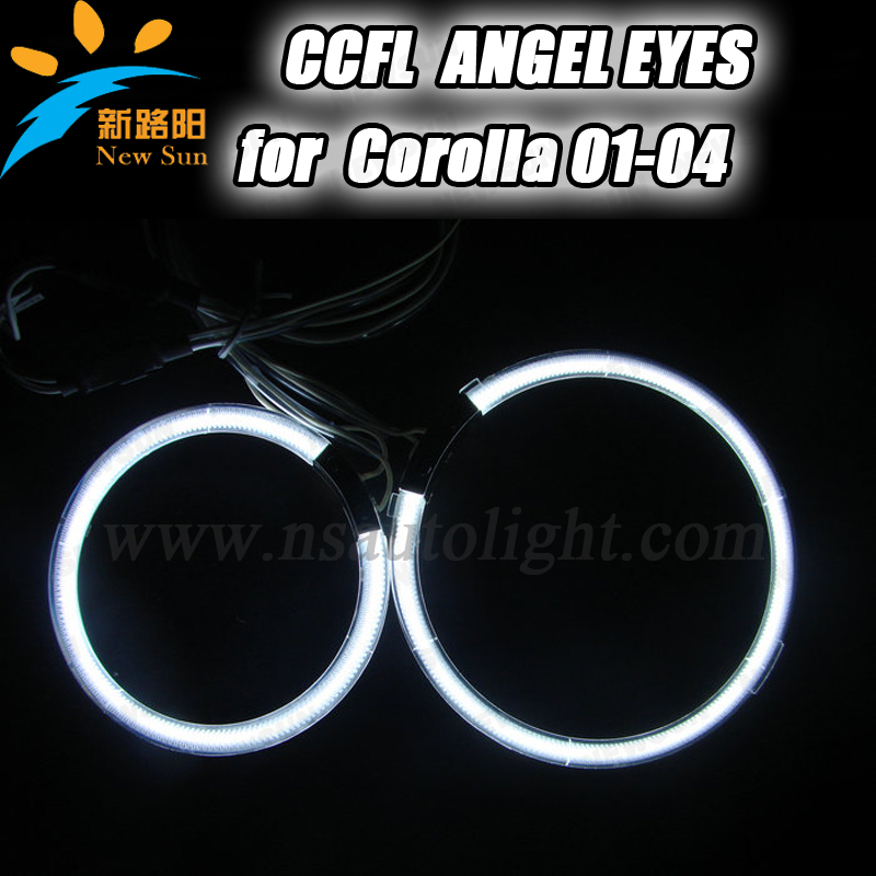 4rings Full circle 105MM& 125MM CCFL angel eyes with two inverters colorful angel eyes ring for projector lens for Corolla 01-04 other voices full circle cd