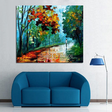 100%Handpainted Abstract Love And Romance Knife Oil Painting On Canvas Thick For Home Decor As Best Gift