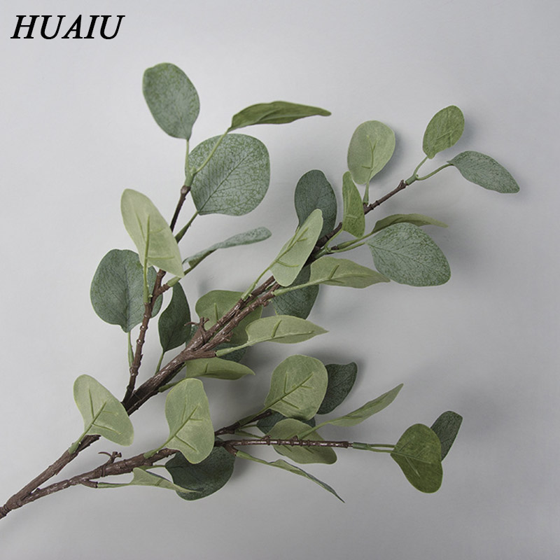 Artificial Flower Simulation Plant Eucalyptus Leaf Green Home Garden Party Wedding Decoration DIY Plant Wall in Artificial Plants from Home Garden