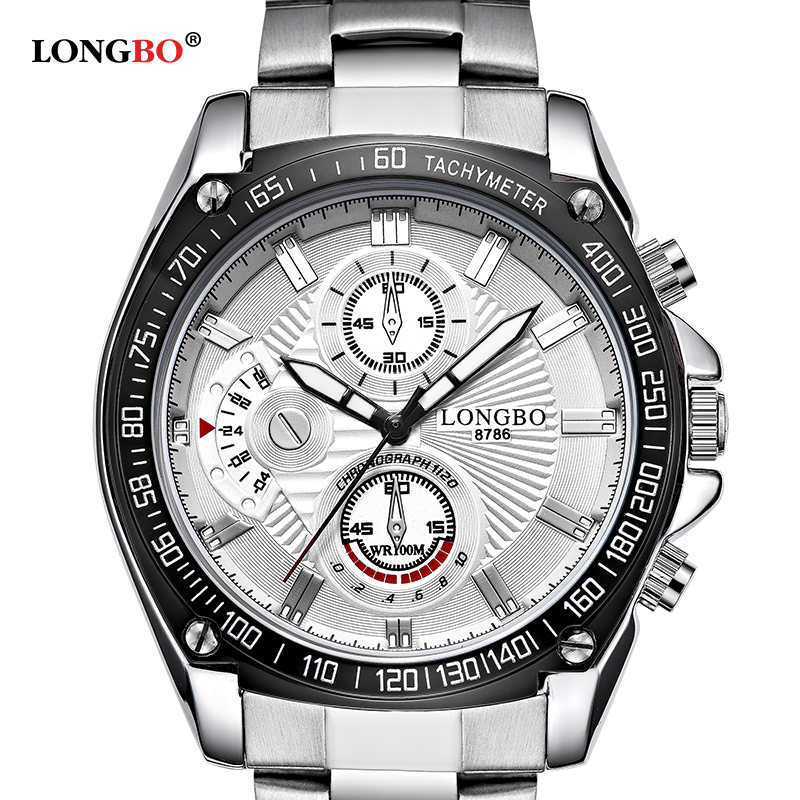 860665605c9 LONGBO Top sale Cool Military Men Watches Silver Stainless Steel Strap Male  Sport Quartz Watches Army Analog WristWatch Clock-in Quartz Watches from  Watches ...