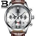 Горячие Бингер мужские Часы лучший бренд класса люкс Военная Униформа спортивные наручные часы-хронограф Reloj Hombre кварцевые часы Relogio Masculino