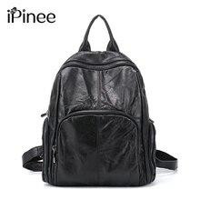 Ipinee Лидер продаж действительно овчины Натуральная кожа рюкзак модельер pinee женская сумка ноутбук школьные сумки