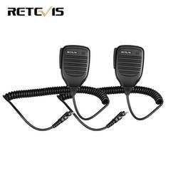 2 шт. PTT Динамик микрофон для Kenwood Baofeng UV-5R Baofeng BF-888s Retevis H777 RT3 RT22 TYT Walkie Talkie радиолюбителей C9001A