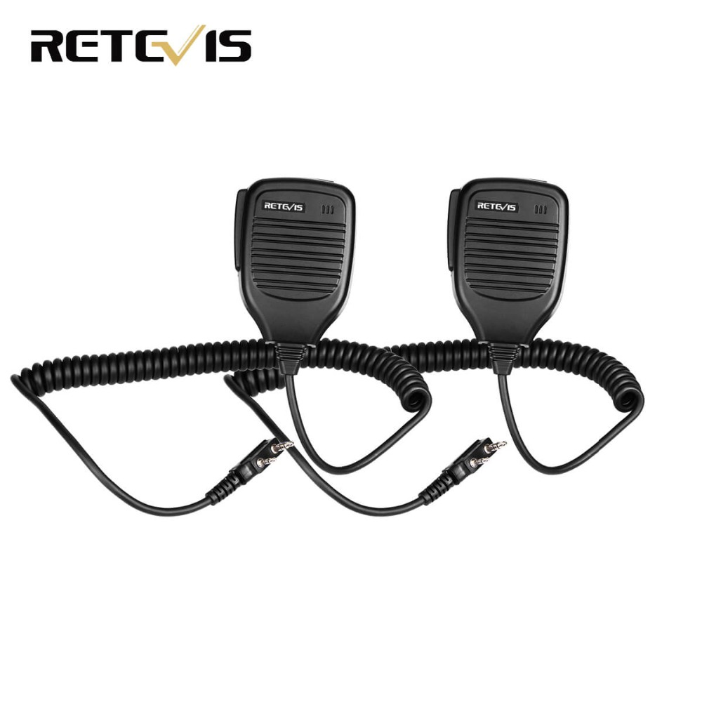2pcs PTT Speaker Mic For Kenwood Baofeng UV-5R Baofeng BF-888s Retevis H777 RT3 RT22 TYT Walkie Talkie Ham Radio C9001A