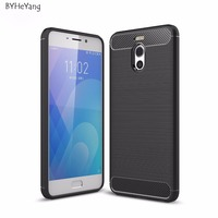 BYHeYang For Meizu M6 Note Case 5.5inch Armor Grade Carbon Fiber Texture Brushed Soft TPU Back Cover For Meizu Meilan Note 6