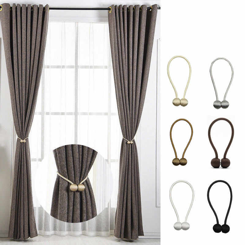 1PC Ball Shape Curtain Strong Magnetic Buckle Tieback Home Window Curtain Accessories Strap Buckle Back Clip Window Decoration