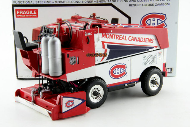 The original 1:18 NHL Zamboni 500 ice snow plow cleaning car model ...