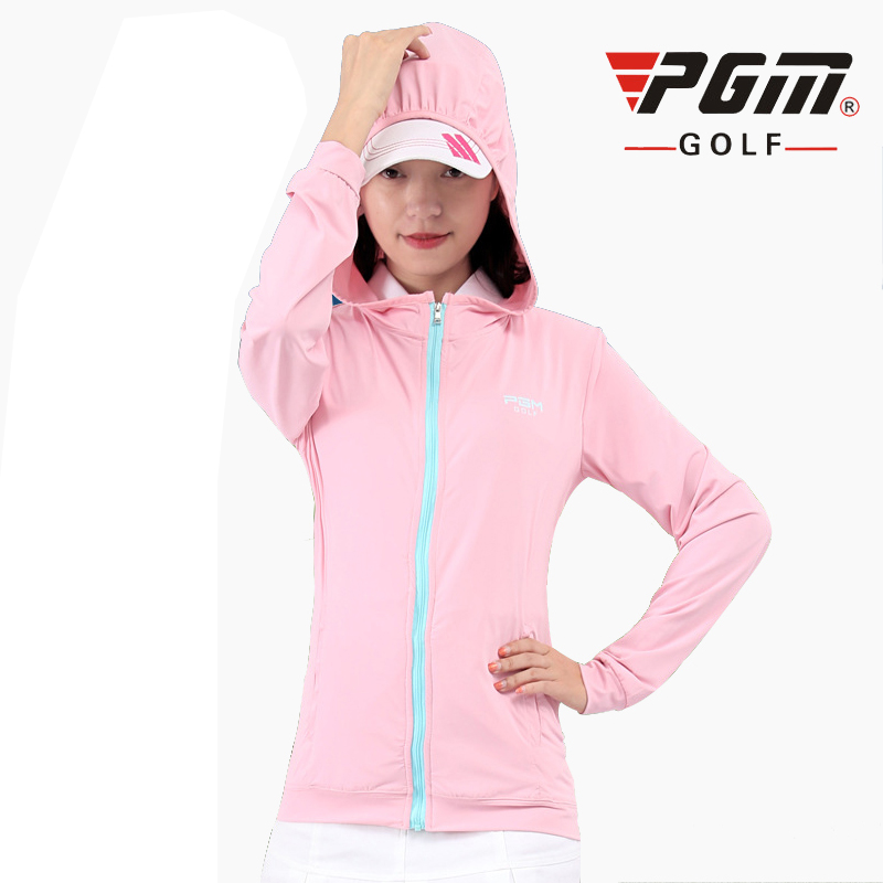 PGM Golf Jackets For Women Breathable Rayon Fall Brand Womans Sports Running Windproof Jackets Hooded Free Shipping