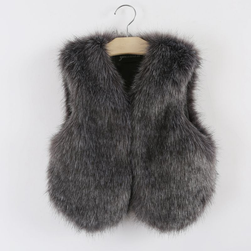 If you're looking for a way to please a young girl, you can't go wrong with this furry vest in sizes 2 to Knit with rows of basic yarn between the rows of fashion-fur yarn, she'll love how comfy it makes her feel.