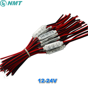 20PCS DC12V 24V Mini Led Dimmer Controller 3 Keys 6A to Control Single Color Led Strip Light SMD 3528 5050 5630 free shipping