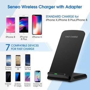 Image 2 - Cargador inalámbrico rápido 10W 9V para el iPhone de Apple 8 X XS XR soporte de escritorio almohadilla de carga inalámbrica para Samsung Note 8 S9 S8 Plus S7 S6