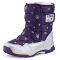 A estrenar zapatos para niños nieve botas impermeables botas cálidas niños grande del ocio del muchacho de impresión calzado botas de montaña