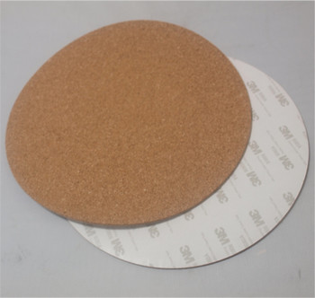 2pcs* round 300mm adhesive cork sheet For Kossel/Delta 3D Printer Heatbed Hot Plate Round 300 mm with tape image