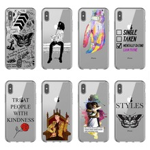 Harry Styles tattoos One Direction 1D Soft Silicone TPU Phone Case Cover For iPhone X 10 5 5S SE 6 6S Plsu 7 8 Plus XR XS Max