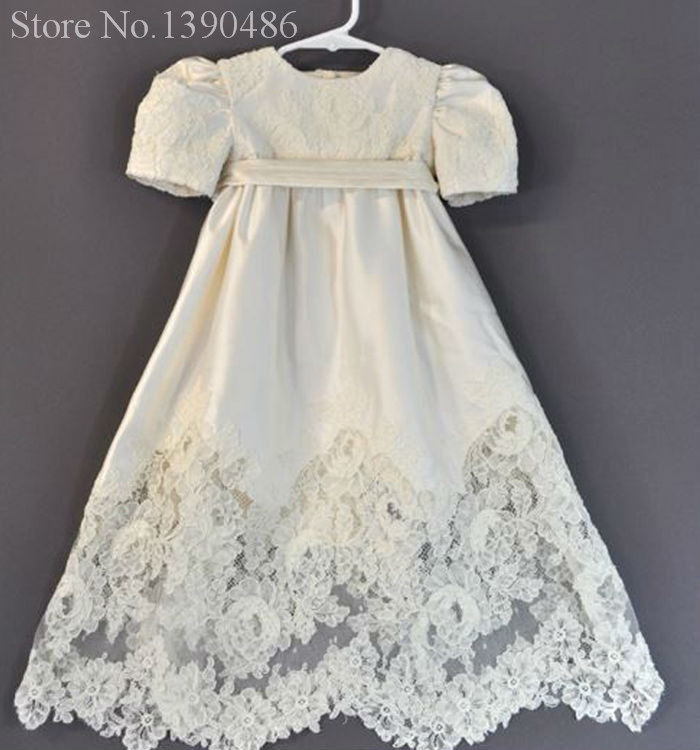 KV 1 Long Lace Baptism Dresses for Baby Girls and Boys Christening ...