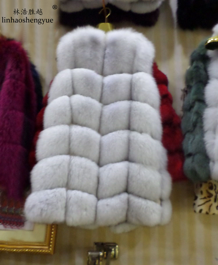 winter 2016 natural real fox fur vest black red blue green gray beige30 colors real natural