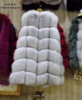 winter 2018 natural real fox fur vest black red blue green gray beige30 colors,real natural fox fur coat,real fur