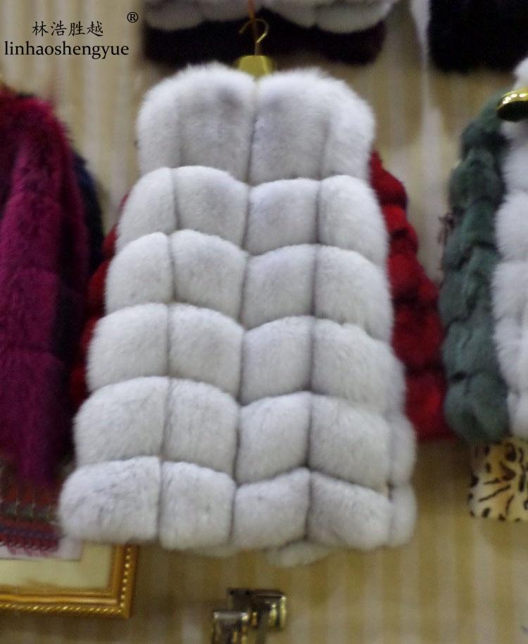 winter 2018 natur echt fuchspelz weste schwarz rot blau grün grau - Damenbekleidung