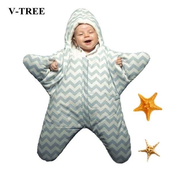 Небольшой Звезды Ребенка Покрыта Спальный Мешок Пеленать Одеяло Обертывание Для Новорожденных Детей Конверты Для Новорожденных