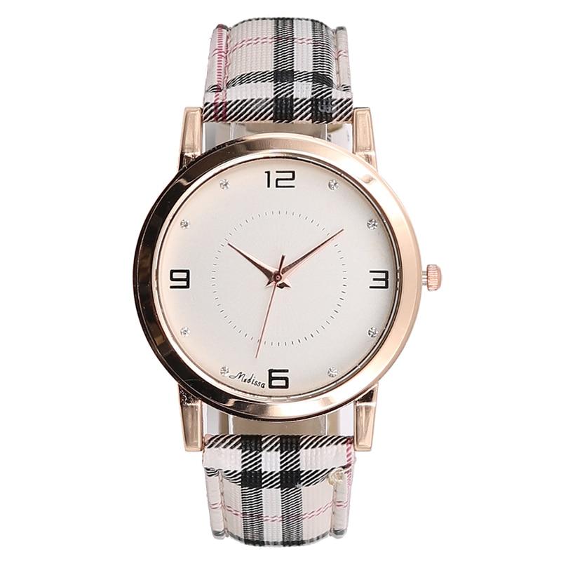 Jauns elegants modes skatīties sievietes krāsu režģis ādas siksna vienkārša ikdienas kvarca rokas pulkstenis dāmas meitenes pulksteni Feminino relogio