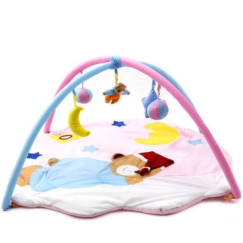 Kawaii Baby Toy Play Mat Tapete Infant Sleeping Bear Educational Crawling Activity Mat Play Gym Carpet 0-12 Months Baby Gift