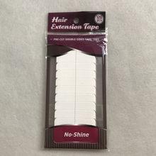 Cinta adhesiva de doble cara para extensión de cabello, cinta de doble cara resistente al agua para extensión de cabello/Peluca de encaje/tupé, color blanco sin brillo, 10x12 unids/lote