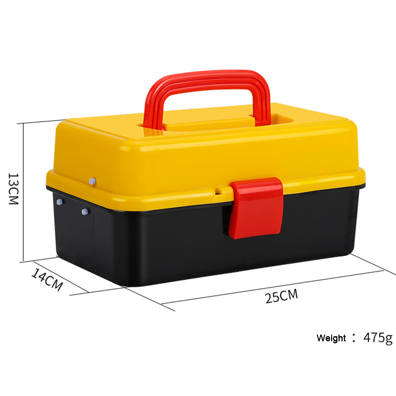 17 Inch Plastic Tool Box With Handle Two Three-storey Folding Tool Box Household Car Portable Repair Tools Holder Container Case