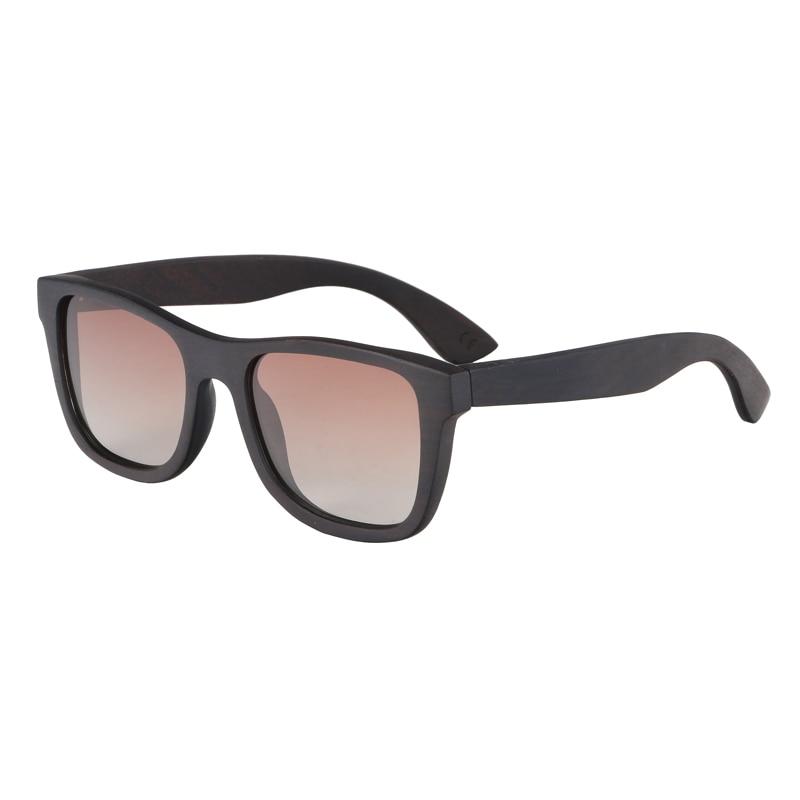 BerWer 100% Natural Ebony Wooden Sonnenbrille Unisex Polarized Sun - Bekleidungszubehör - Foto 4