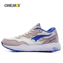 Free Shipping Man Run Running Shoes For Men Retro Classic Athletic Trainers Blue Zapatillas Sports Shoe Outdoor Walking Sneakers