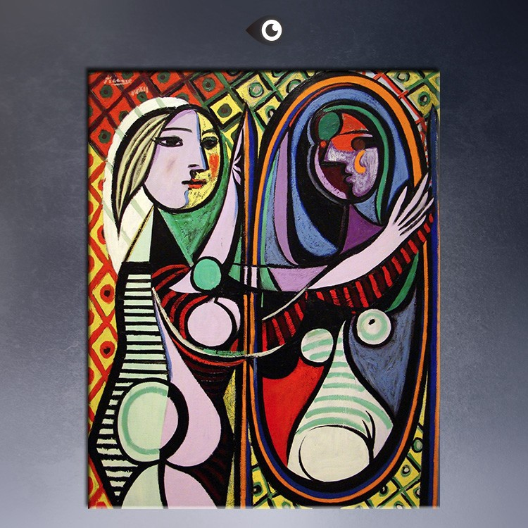 free shipment Pablo Picasso GIRL BEFORE A MIRROR Estate Signed & Numbered Abstract Canvas Prints