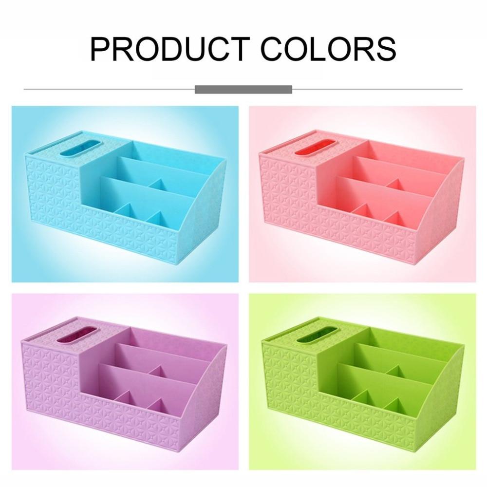 Multifunctional Desktop Shelves Storage Box Durable Plastic Makeup Storage Box Organizer Tissue Box Small Items Storage Case