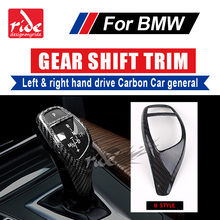 E46 Left & Right hand drive Carbon car genneral Gear Shift Knob Cover Decorations B-Style For E46 E90 E92 E93 F30 F35 318i 320i for e46 e90 e30 f35 e92 gear shift knob cover decorations carbon 318i 320i 328i 330i 335i shift covers right hand drive a style