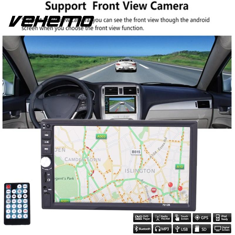 Vehemo DC 12V 2 Din HD Car Radio Touch Screen GPS AM Multimedia WiFi For Android5.1 Bluetooth Play 7 Inch High-definition MP5 vehemo new 7 inch car vehicle gps fm radio bluetooth no dvd with north america map