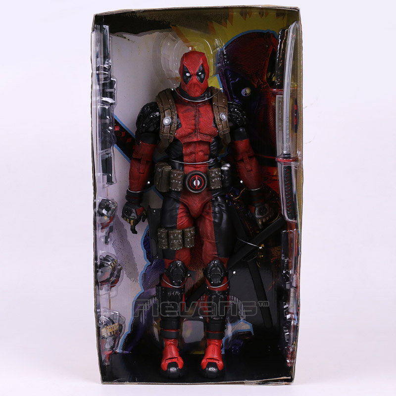 NECA EPIC MARVEL Deadpool Ultimate Collectible 1/4 Scale Action Figure Model Toy 16 45cm EMS Free Shipping neca dc comics batman arkham origins super hero 1 4 scale action figure