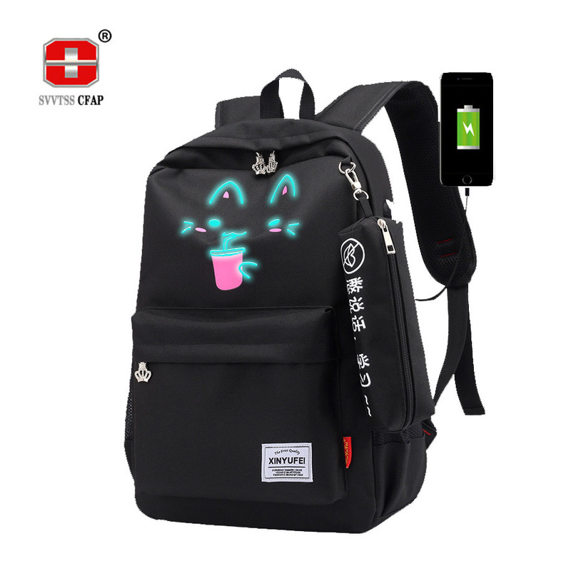 school backpack for girls 2018 big teenage girls school bag for teens USB Charging High Oxford laptop backpack women schoolbag ...