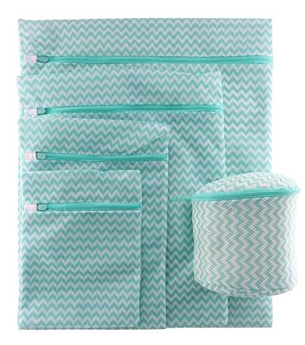 5-Pieces Laundry Bag Mesh Wash Bag for Travel, Bra Laundry Bag for Delicates, Garment, Lingerie, Baby Clothing