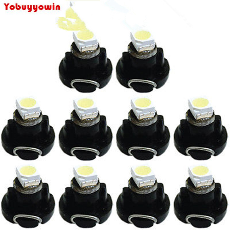 10X <font><b>T3</b></font> 1210 SMD <font><b>12V</b></font> LED Climate Control Lights Car Dashboard Wedge Bulbs White image