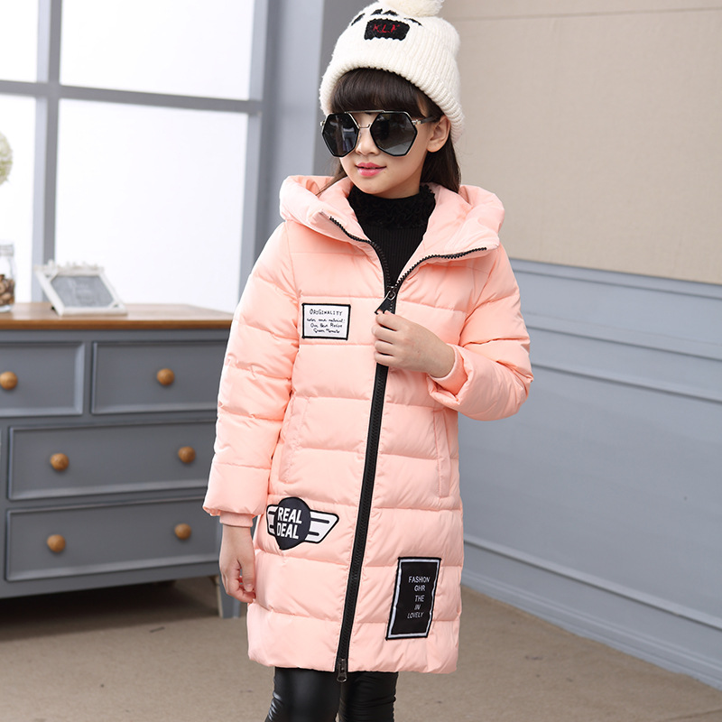 Child jacket Girl Jackets for girls winter coat 2018 fashion children clothing Kids Hooded Coat Thicken cotton-padded jacket winter jacket men warm coat mens casual hooded cotton jackets brand new handsome outwear padded parka plus size xxxl y1105 142f
