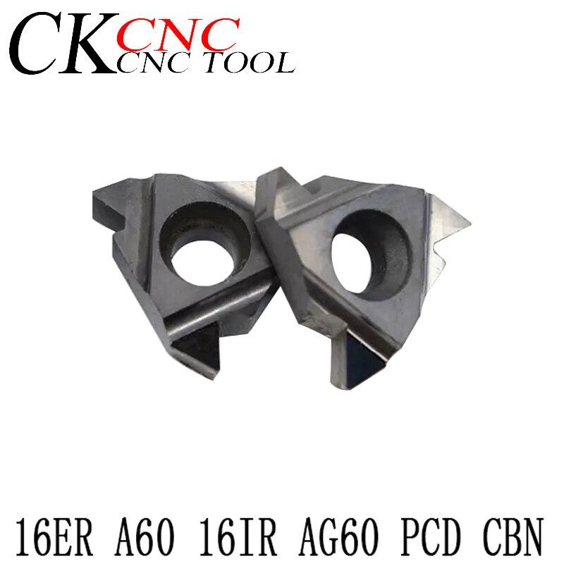 high quality 2 new CBN 16IRAG60 CBN diamond CNC carbide inserts