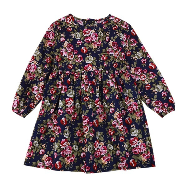 5c8a83fa4 Товар Summer Baby Kids Dresses Children Girls Long Sleeve Floral ...