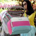 5 Colors Patch Work High Quality Tote Baby Shoulder Diaper Bags Durable Nappy Bag Mummy Mother Baby Bags for Mom Luiertas