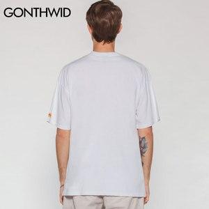 Image 3 - GONTHWID クリエイティブ Massif プリント半袖ストリート男性ヒップホップ原宿カジュアル綿 Tシャツ男性ファッションストリートトップ Tシャツ
