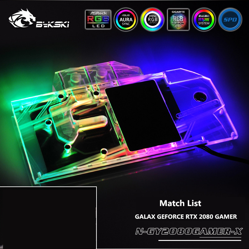 Bykski Full Coverage GPU Water Block For VGA GALAX GEFORCE RTX 2080 GAMER  Graphics Card N-GY2080GAMER-XBykski Full Coverage GPU Water Block For VGA GALAX GEFORCE RTX 2080 GAMER  Graphics Card N-GY2080GAMER-X