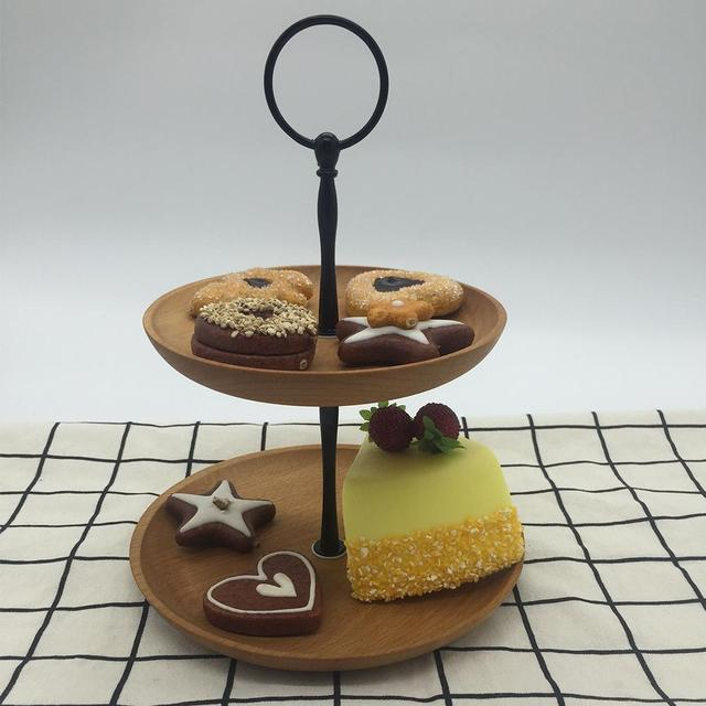 Two Tier Wooden Fruit Plate